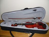 1/2 size Violin complete with case and bow - - excellent condition