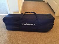 Mothercare travel cot, navy and star pattern