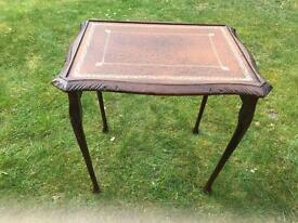Small French style wooden side table
