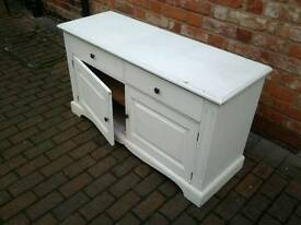 Painted solid shabby chic cupboard with drawers