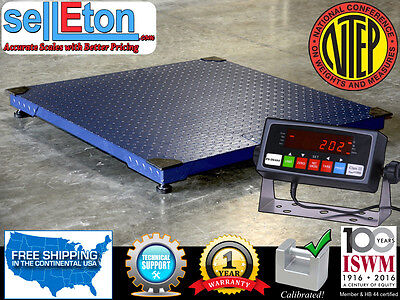 New Ntep 5000 Lb X 1 Lb 5x5 60 X 60 Floor Scale Pallet Scale W Indicator