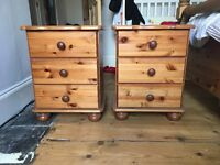 Two gorgeous, 3-drawer bedside tables