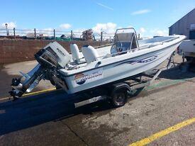 Dorry Eurosport 16ft .boat & galvanised trailer.
