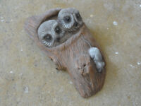 Handmade Stone Garden Wall Owl Hanging Ornament RRP £ 35.00 from Haskins