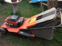 Flymo Petrol Lawnmower with Rear Roller