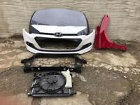 Hyundai i20 2016 2017 Genuine front bumper + bonnet + wing + radiator pack + panel