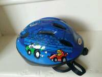 Young boys cycle helmet