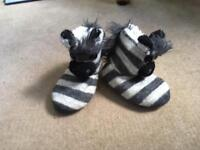 Zebra slippers new