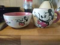 Minnie Mouse mug and bowl set