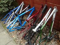 7 x bike frames shocks parts for £95 ono - UK DELIVERY / PAYPAL- mongoose carrera trax + more c