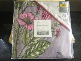 Next brand new never opened single bedset ORCHARD FLORAL