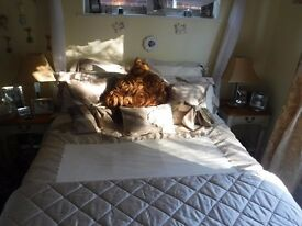 Double Kingsize bed with duvet set and Mattress