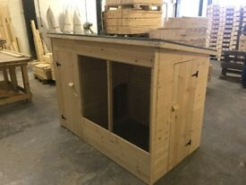 6ft WOODEN dog kennel and run