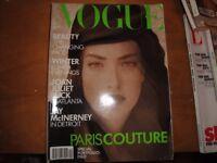 Vintage Vogue & Elle Magazines