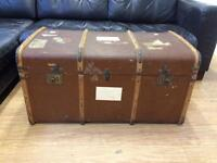 Large vintage travel trunk
