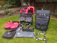 Discounted: Bugaboo Donkey Duo for twins on SALE with accessories