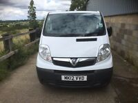 vauxhall vivaro 2012.air con.56k miles.one company owned.full history.excellent runner