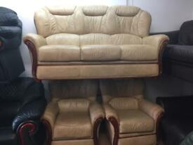 Leather exgillies quality secondhand leather suites