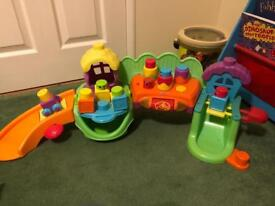 Fisher price stack and play