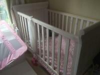 John Lewis cot bed with mattress