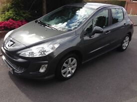 2009 Peugeot 308 1.6 HDi Sport Grey FSH MOTd Cruise Air-Con Alloys CD HPi Clear £2495 Cambelt done