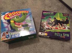 Crocodile dentist and ninja turtle pizza spin(twister)