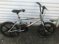 BMX OLD SCHOOL CROME 20 inch mag wheels18 inch frame £245