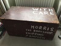 Old wooden trunk/chest storage