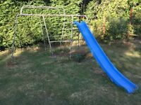 Kid's climbing frame and slide