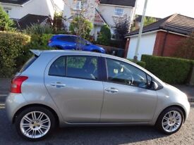 (08) TOYOTA YARIS 1.3 SR 5dr VERY LOW MILEAGE, FSH, 9 STAMPS, INTEGRATED TOM-TOM NAV, TOP SPEC MODEL