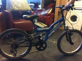 Boys blue suspecting bike