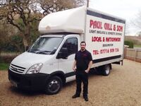 PAUL GILL & SON LIGHT HAULAGE & DOMESTIC REMOVALS, MAN WITH VAN, LUTON VAN, TAIL LIFT