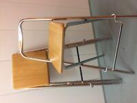 6 John Lewis Fiam folding bar stools.