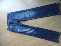 A&F 'Abercrombie Kids' Blue 'Distressed style' Slim Fit Jeans - Size 16yrs