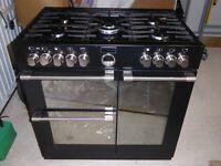 Range Cooker Stoves Dual Fuel Sterling 900DFT Black