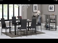 Table & 6 chairs New still in boxes £ 700 when new