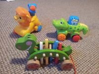 Bundle of Pull/Push Along Toys with Sounds. Includes Lion King
