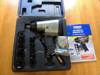 Impact wrench air POWER CRAFT with 10 Impact sockets £20