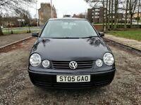 2005...Volkswagen POLO TWIST 1.2e...NEW FULL MOT 2018..BLACK...5D..95k..Full Service History..V.G.C.