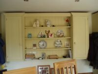 kitchen cupboard and shelving unit