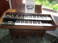Yamaha Electone BK-2 Organ with stool, guide and instruction book