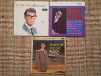 Buddy Holly Vinyls x3, That'll be the day, Showcase and Greatest hits. Original
