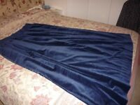 Navy blue velour curtains (lined)