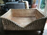 Large wicker dog bed