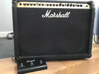 Marshall Valvestate 100watt twin speaker amplifier with foot pedal in great condition .