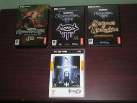 PC Games Neverwinter Nights Deluxe Edition & Deus Ex, RPG Complete Cases Discs