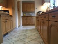 Solid Light Oak kitchen cupboard doors and draw fronts