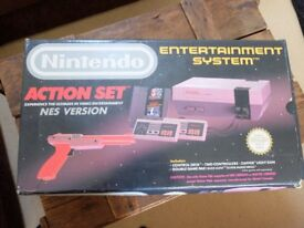 Boxed Nintendo Entertainment System Action Set Grey Console
