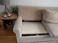 Comfy beige sofabed, priced for fast collection!