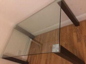 Elegant glass dining table
